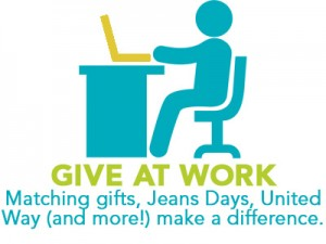 give at work